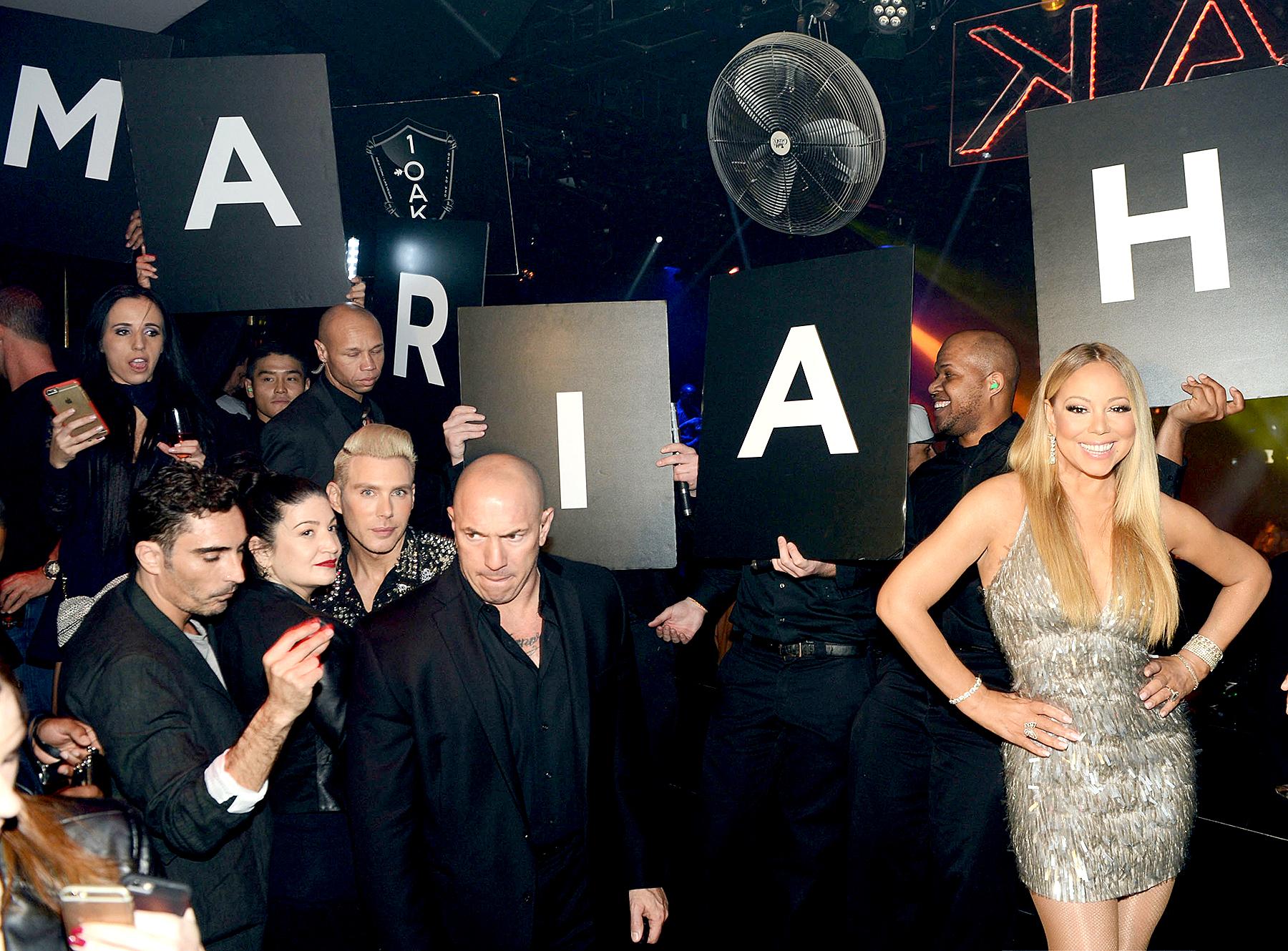 Mariah Carey celebrates her 'Mariah #1 to Infinity' wrap party at 1 OAK Nightclub at The Mirage Hotel & Casino on February 20, 2016 in Las Vegas, Nevada.