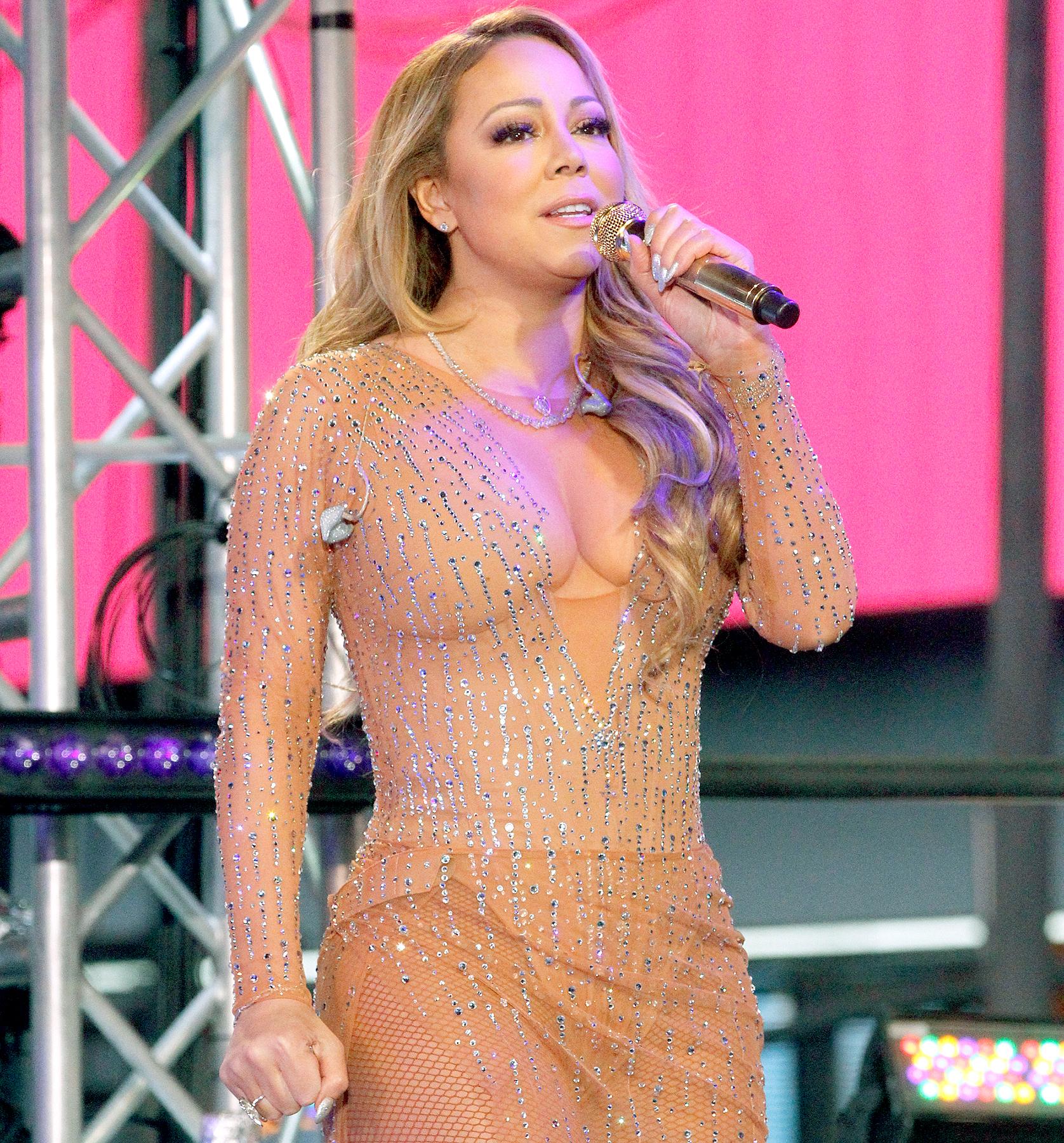Mariah Carey on New Years Rockin Eve with Ryan Seacrest 2017