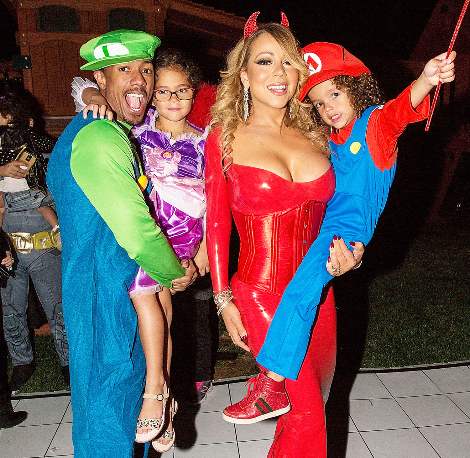 Nick Cannon, Monroe Cannon, Mariah Carey, and Moroccan Cannon attend Mariah Carey's Halloween Party on October 22, 2016 in Los Angeles, California.