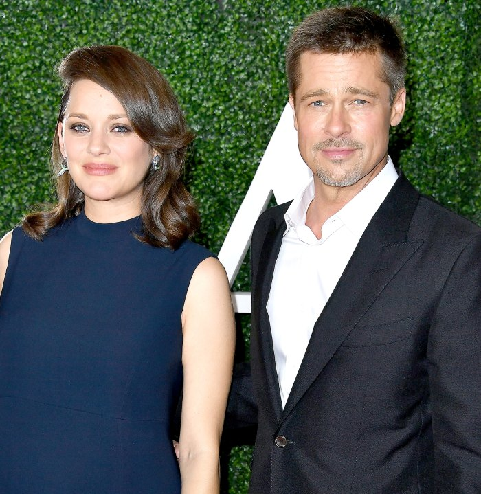 Marion Cotillard and Brad Pitt arrives at the Fan Event For Paramount Pictures'