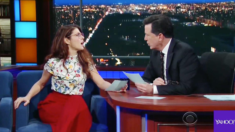 Marisa Tomei Lady Gaga Stephen Colbert