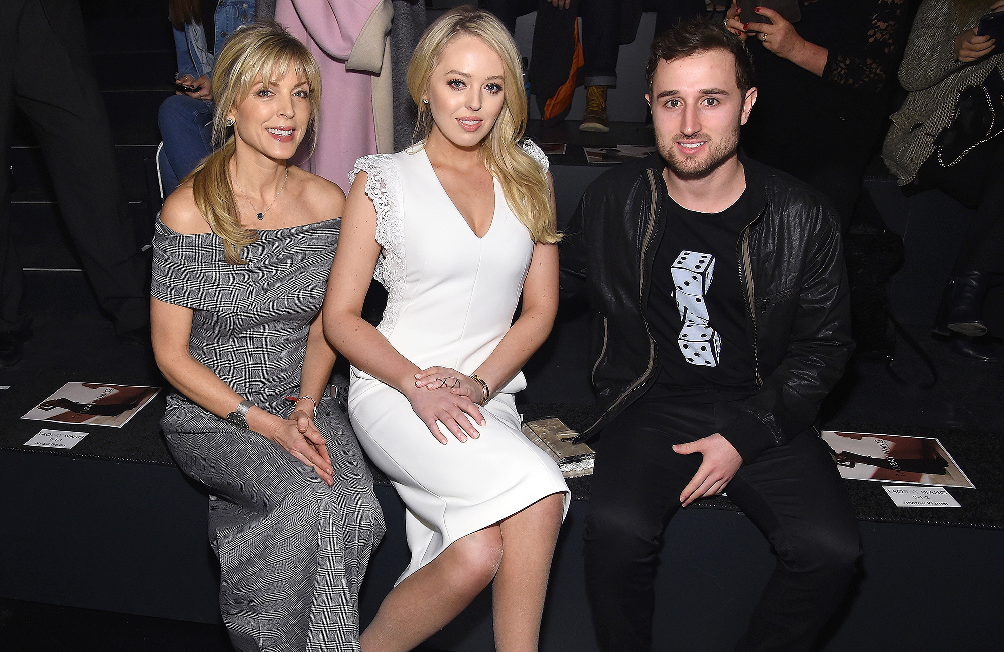 Marla Maples, Tiffany Trump and Ross Mechanic