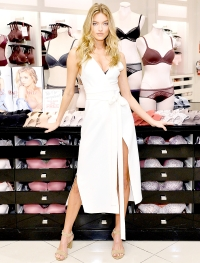 Victoria's Secret Angel Martha Hunt Is Your Every Day Angel In Body By Victoria at The Beverly Center on August 1, 2017 in Los Angeles, California.