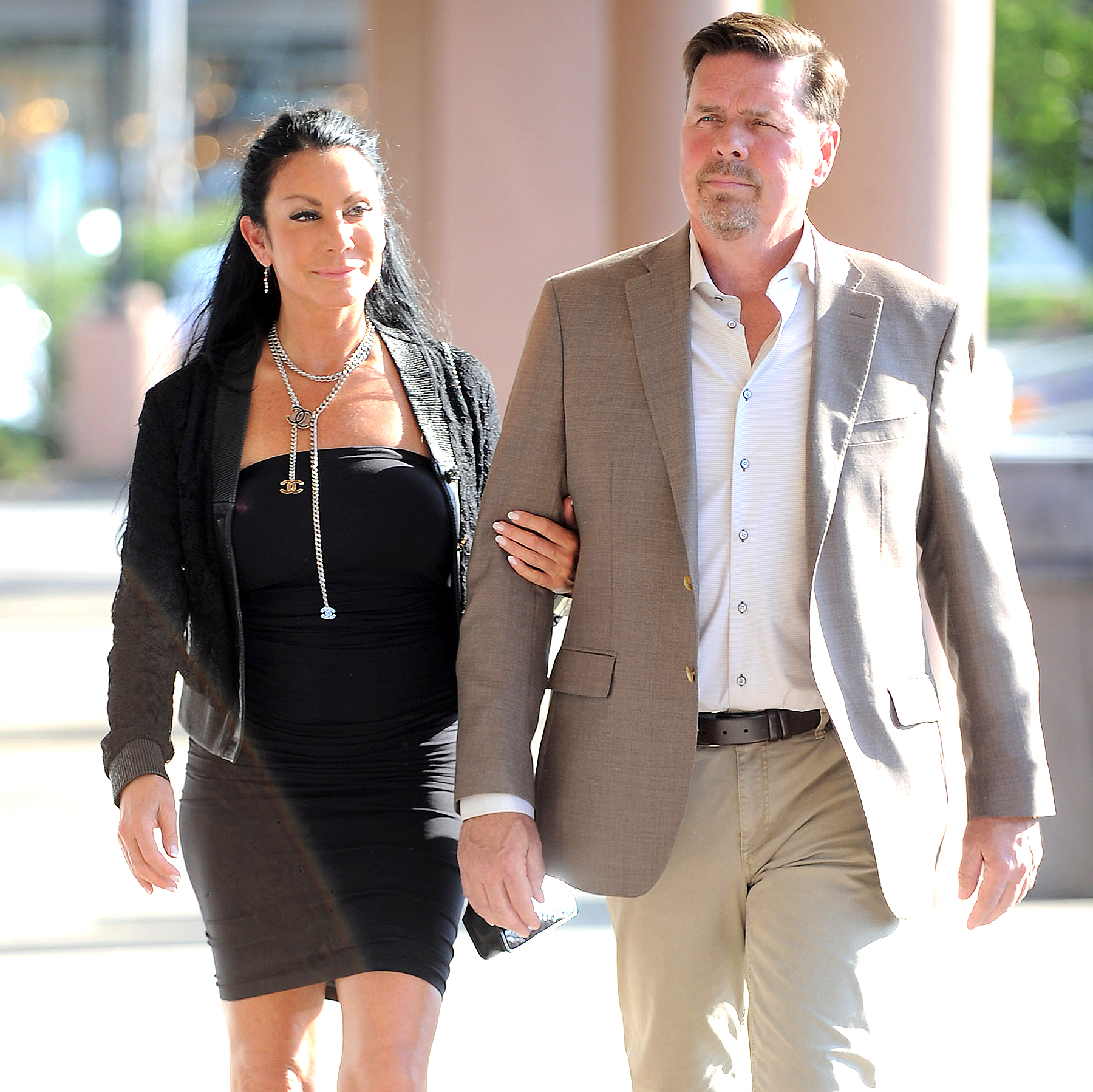 Danielle Staub and Marty Caffrey in East Hanover, New Jersey, on May 18, 2017.