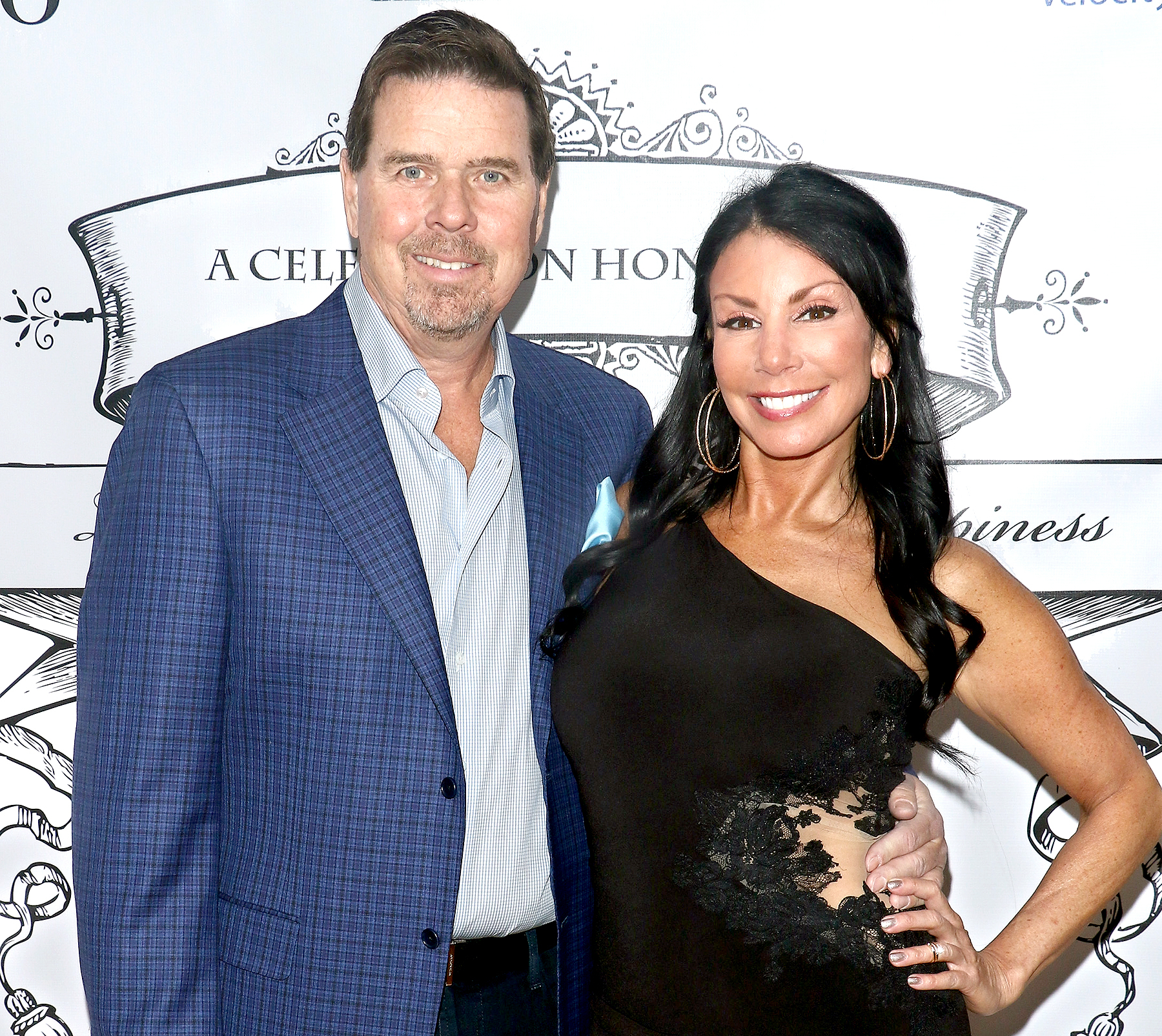 Marty Caffrey and Danielle Staub attend Staub's housewarming party on January 14, 2017 in Edgewater, New Jersey.