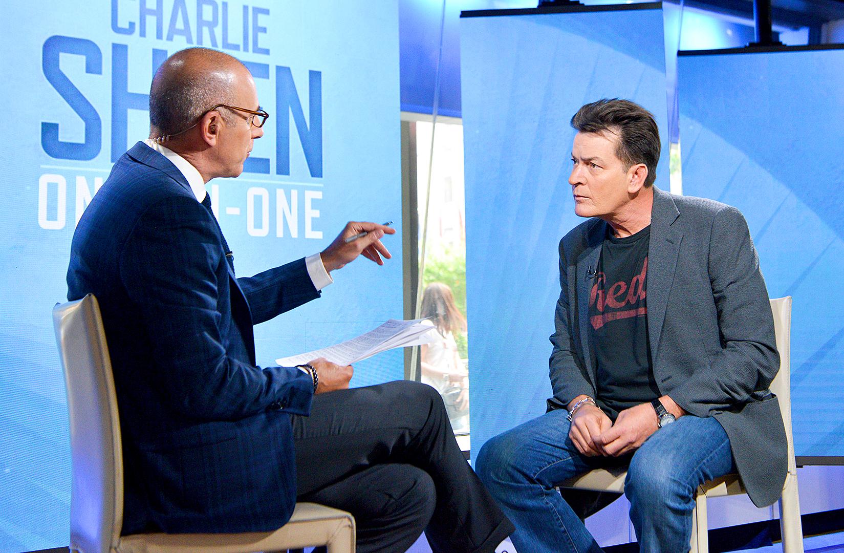Matt Lauer and Charlie Sheen
