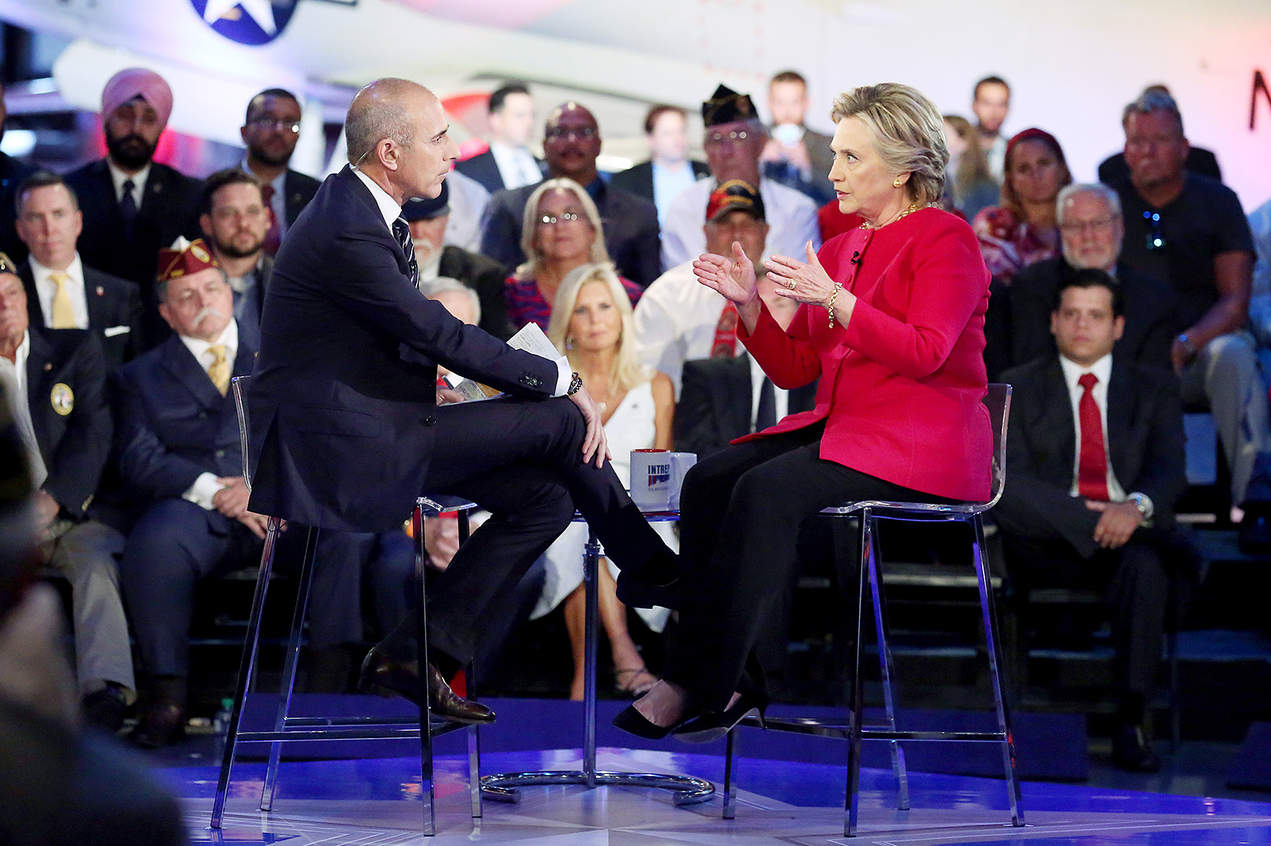 Matt Lauer Hillary Clinton Commander-in-Chief Forum