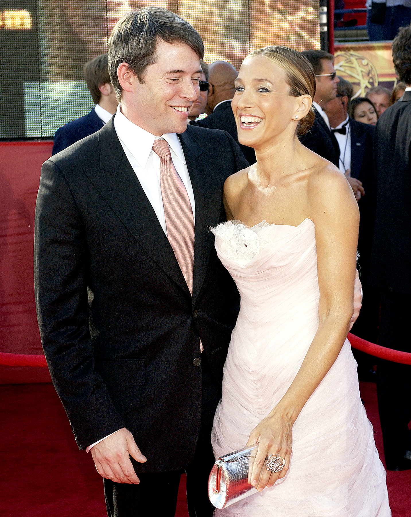 Matthew Broderick and Sarah Jessica Parker during The 55th Annual Primetime Emmy Awards - Arrivals at The Shrine Theater in Los Angeles, California, United States in 2003.