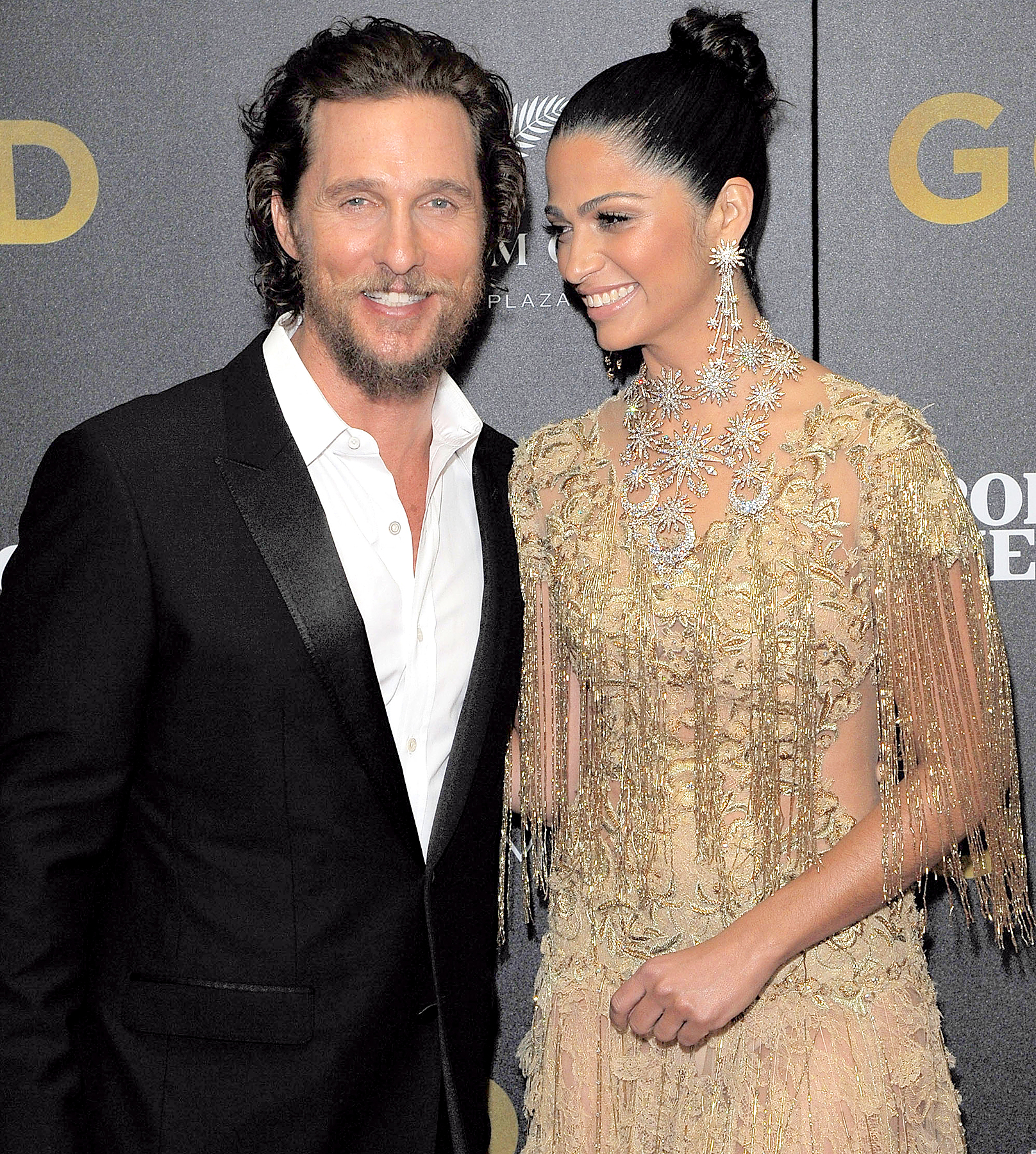 Matthew McConaughey and Camila Alves attend the world premiere of