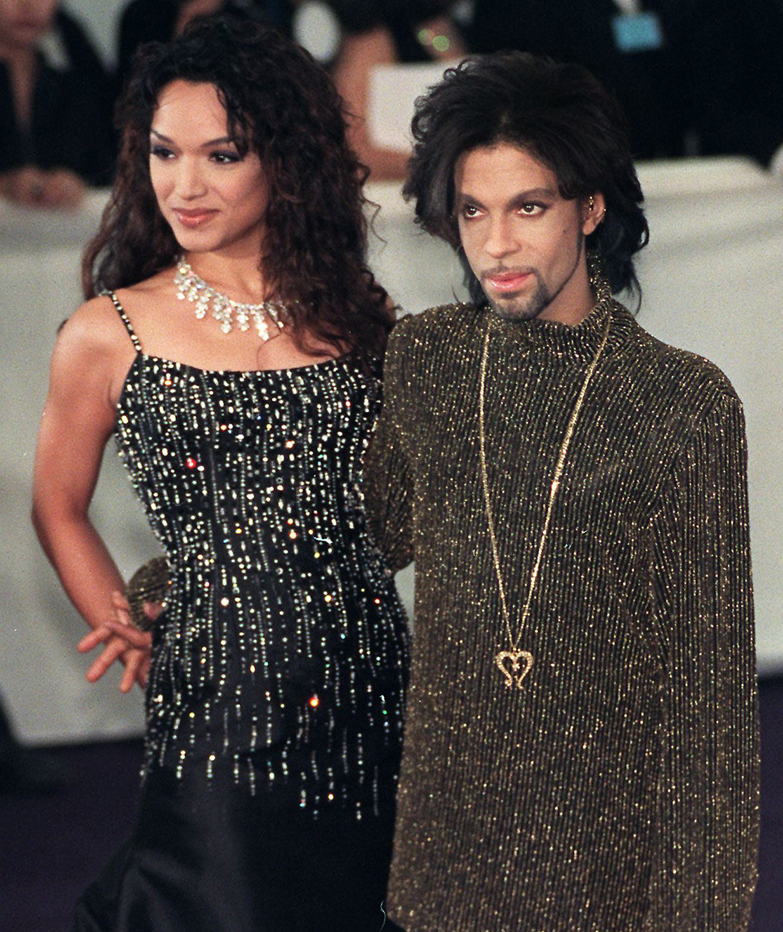 Prince and his wife Mayte Garci