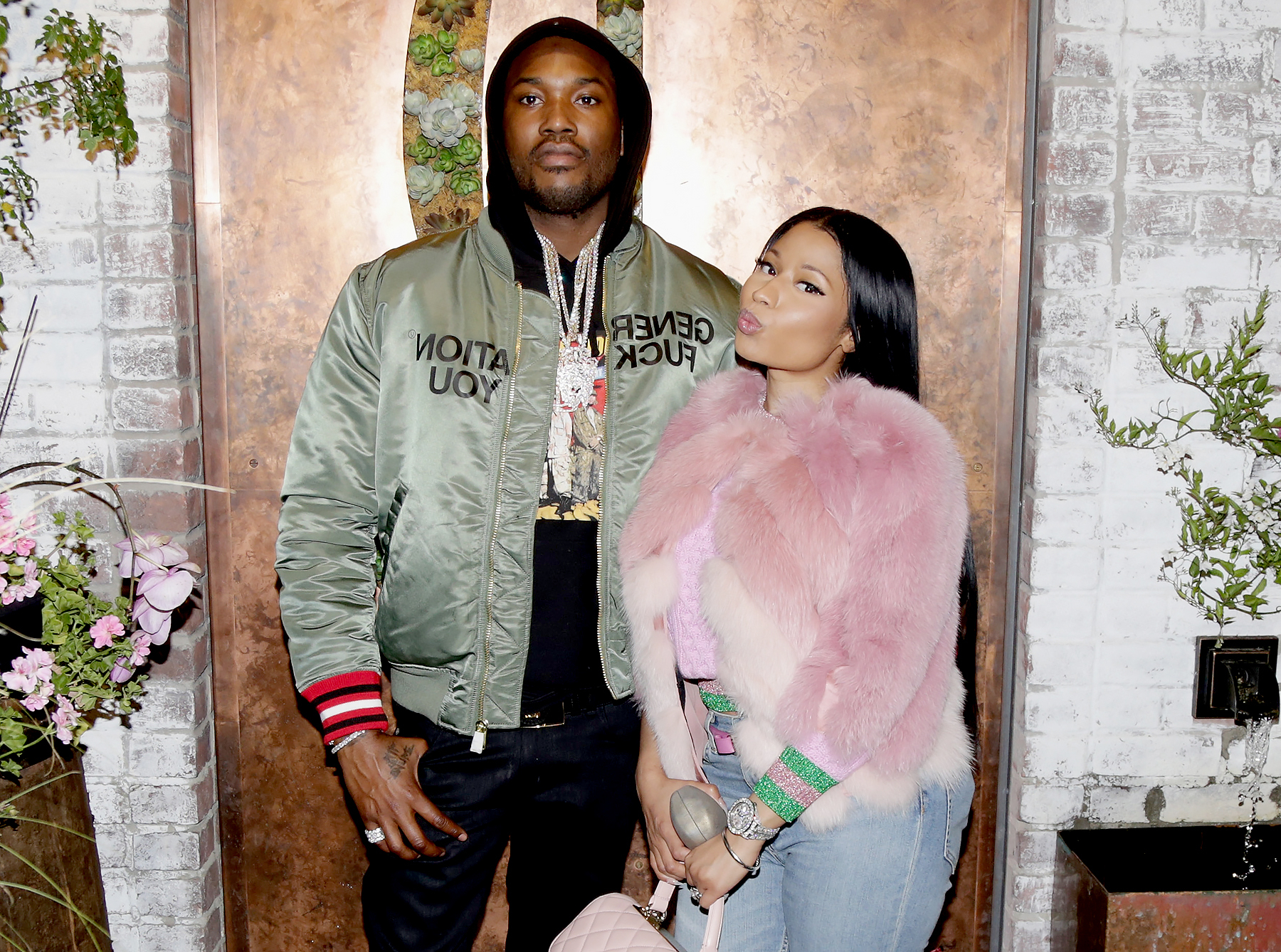 Meek Mill and Nicki Minaj attend DJ Khaled's 'The Keys' book launch dinner presented by Penguin Random House and Ciroc in Los Angeles on November 19, 2016.