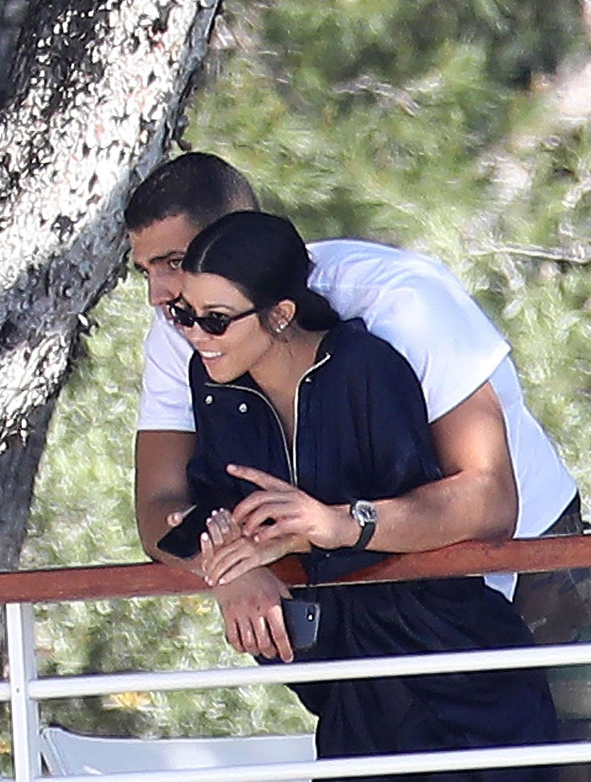 Kourtney Kardashian Cuddles With Younes Bendjima in France