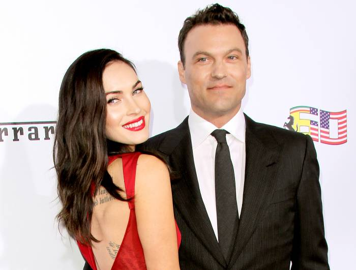 Megan Fox and Brian Austin Green attend Ferrari's 60th Anniversary in the USA gala at the Wallis Annenberg Center for the Performing Arts in Beverly Hills on October 11, 2014.