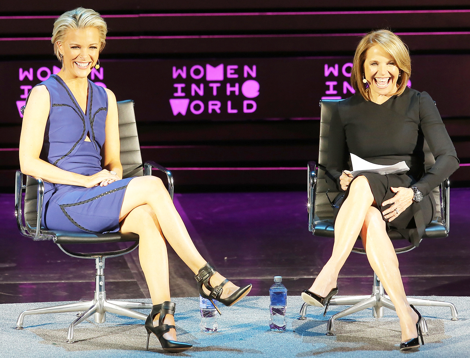 Katie Couric and Megyn Kelly