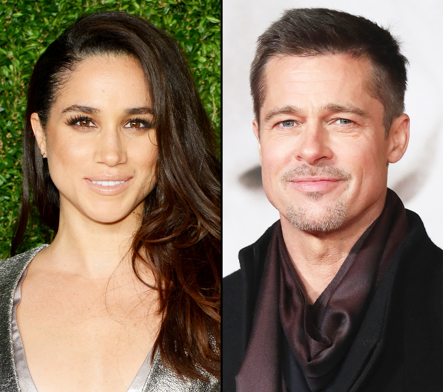 Meghan Markle and Brad Pitt