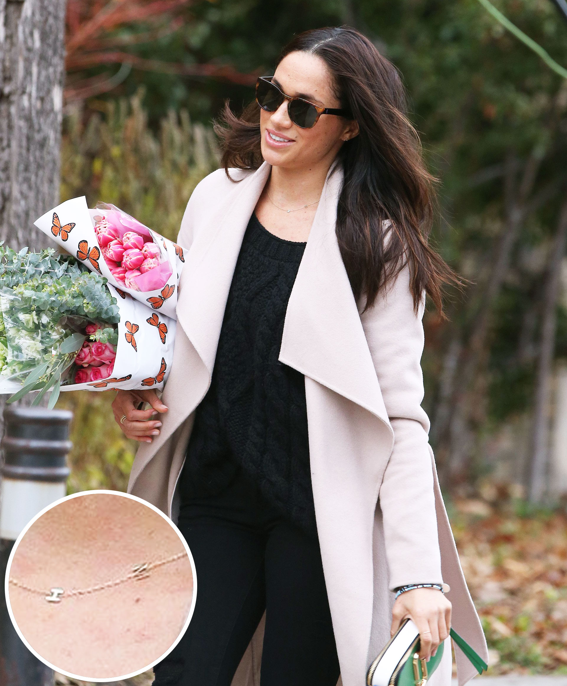 Meghan Markle Wears Personalized Necklace For Prince Harry