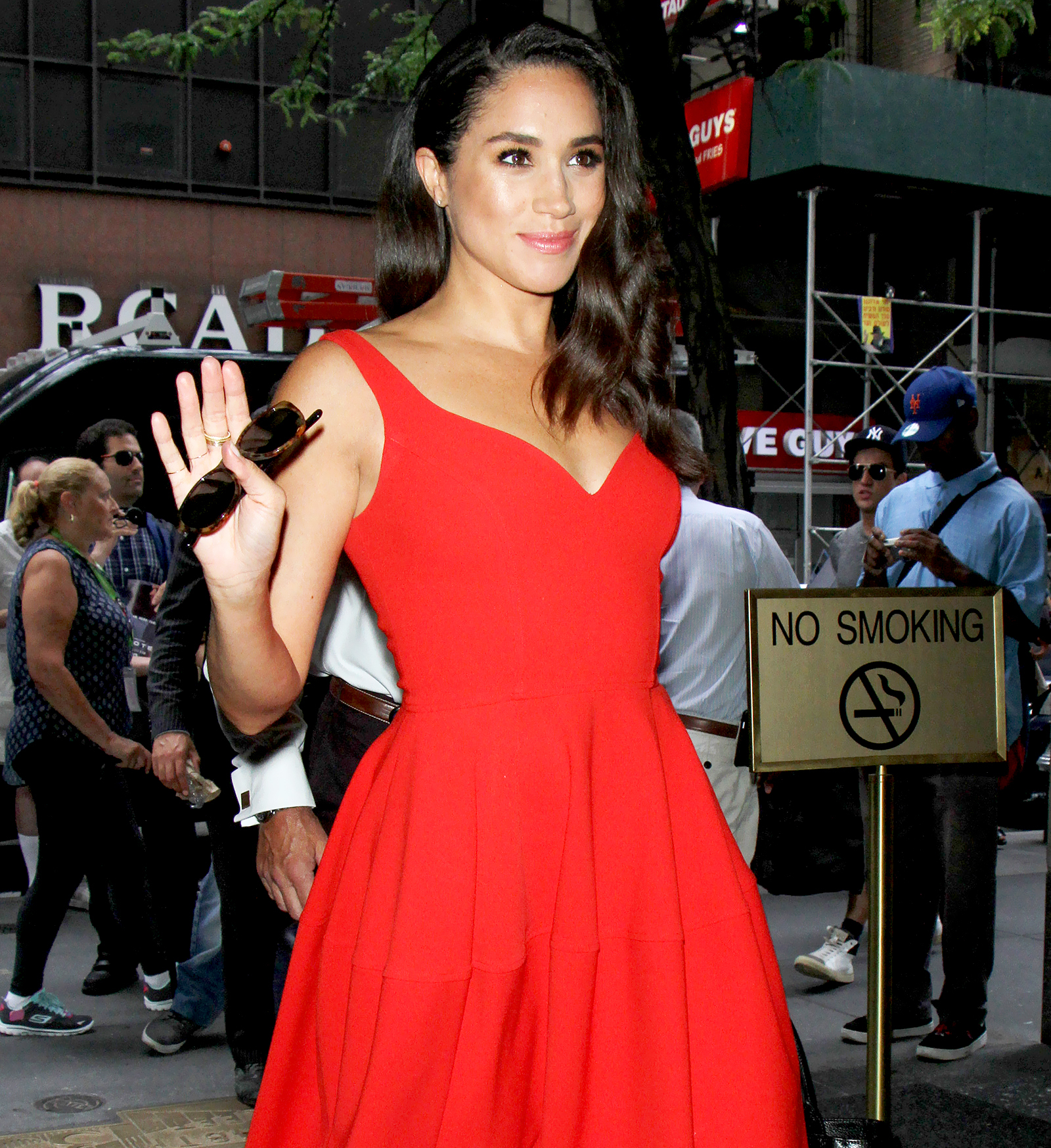 Meghan Markle arrives at NBC Studios in New York City for an appearance on 'The Today Show' July 14, 2016.