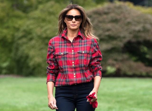 2cccf98e56fa Melania Trump Gardens Wearing  1