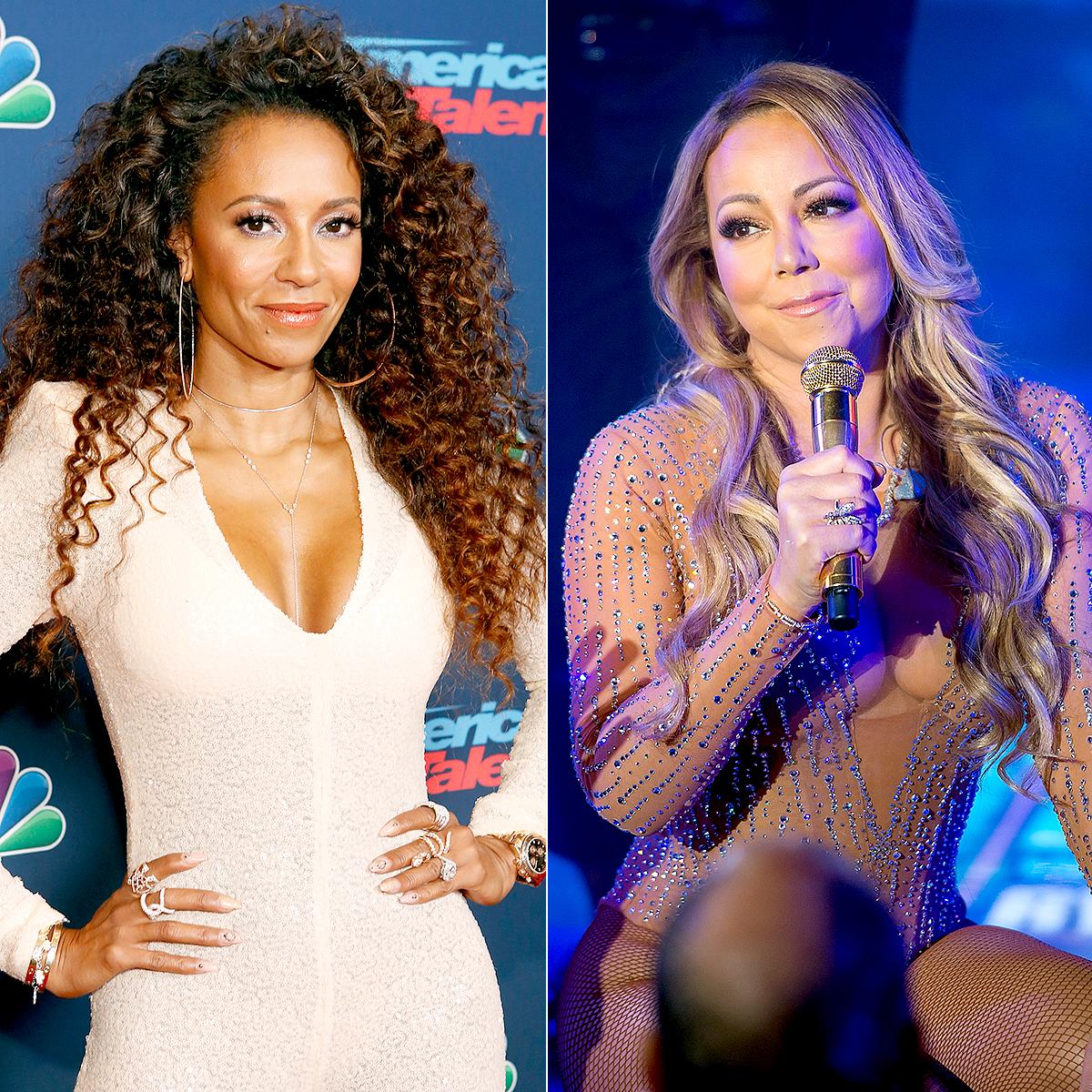 Mel B and Mariah Carey