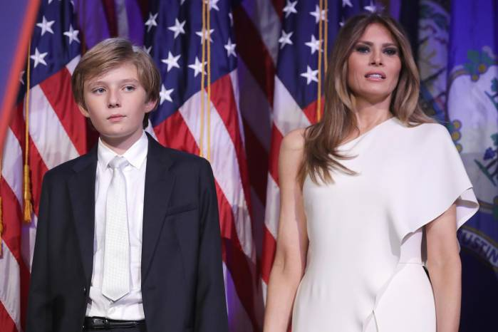 Melania Trump and her son, Barron Trump