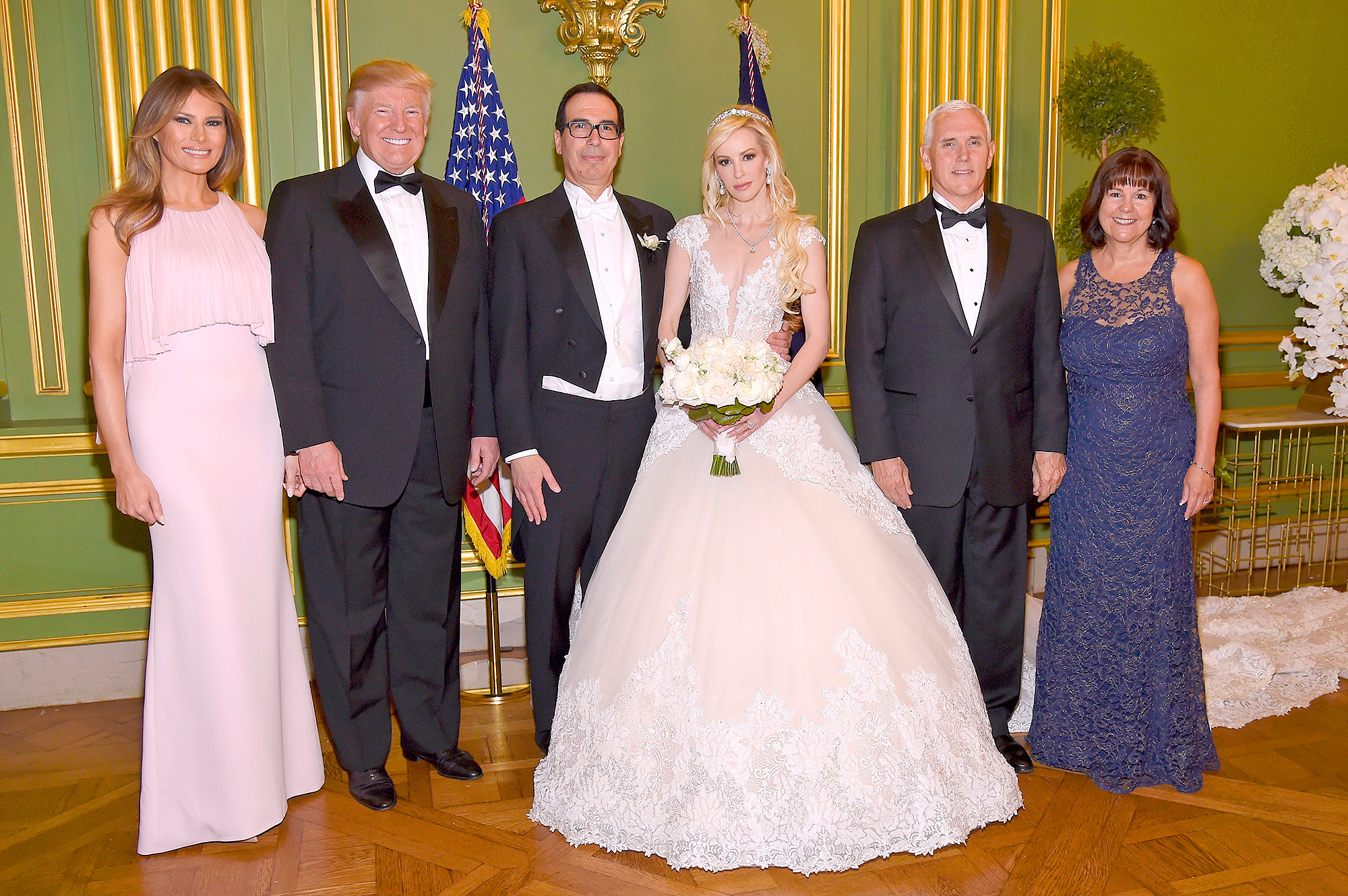 Donald and Melania Trump Attend Steven Mnuchin\'s Wedding