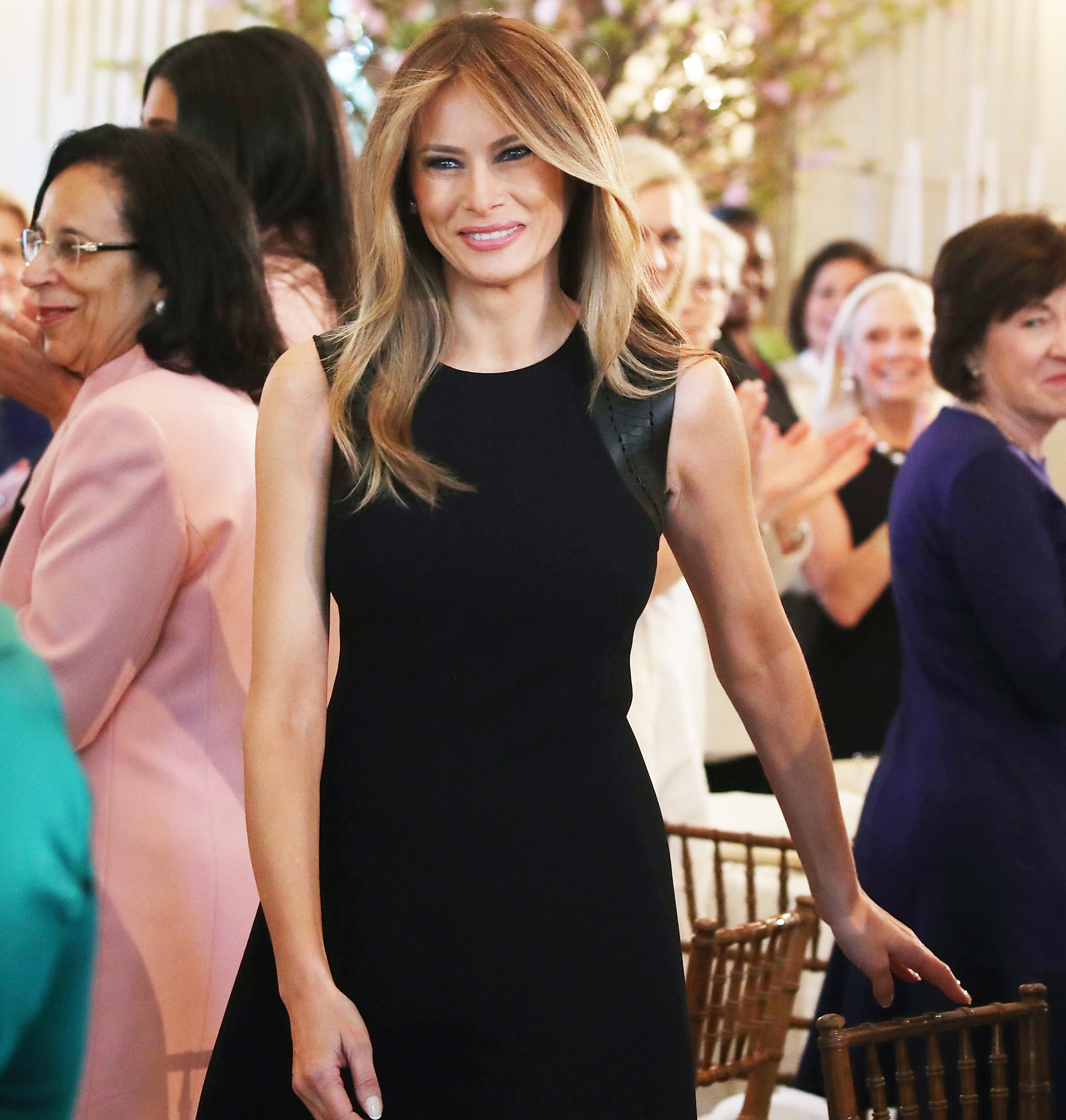 White Trash In The White House Talks Education: Melania Trump Talks 'Kindness' At International Women's