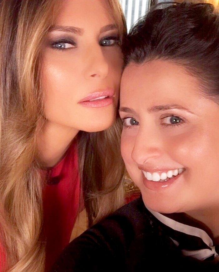 Melania Trump and Nicole Bryl