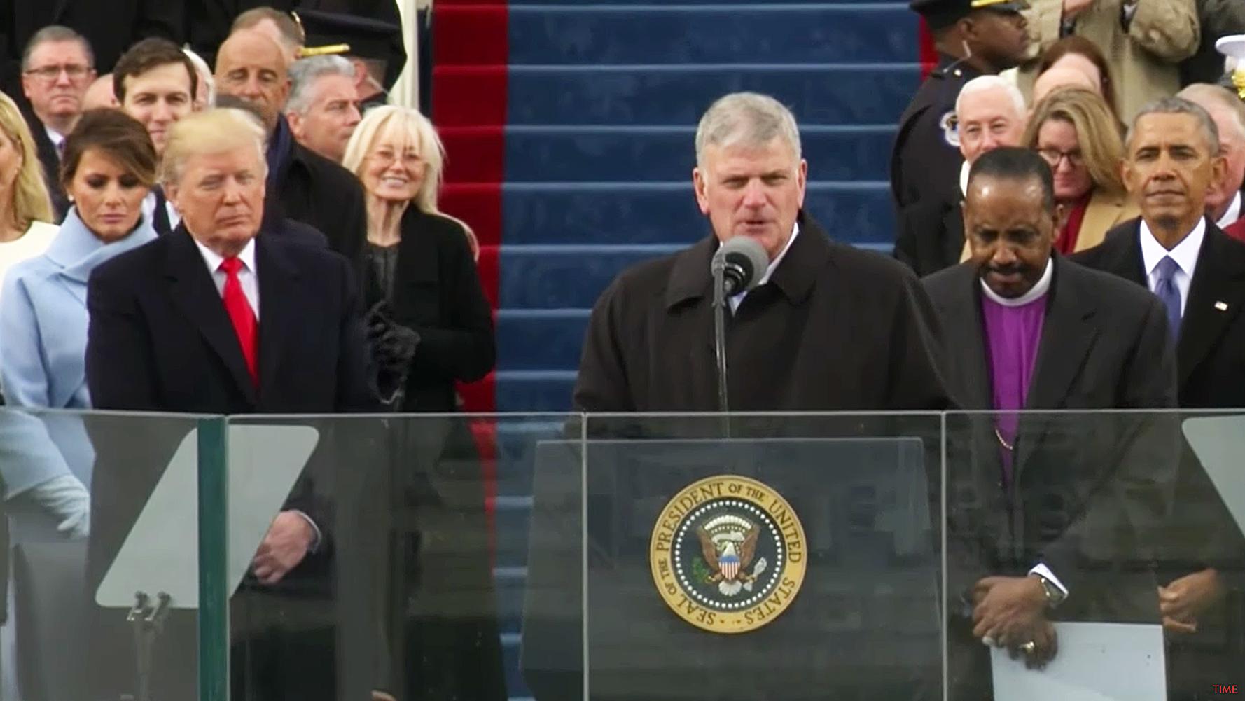 Melania Trump scowling inauguration