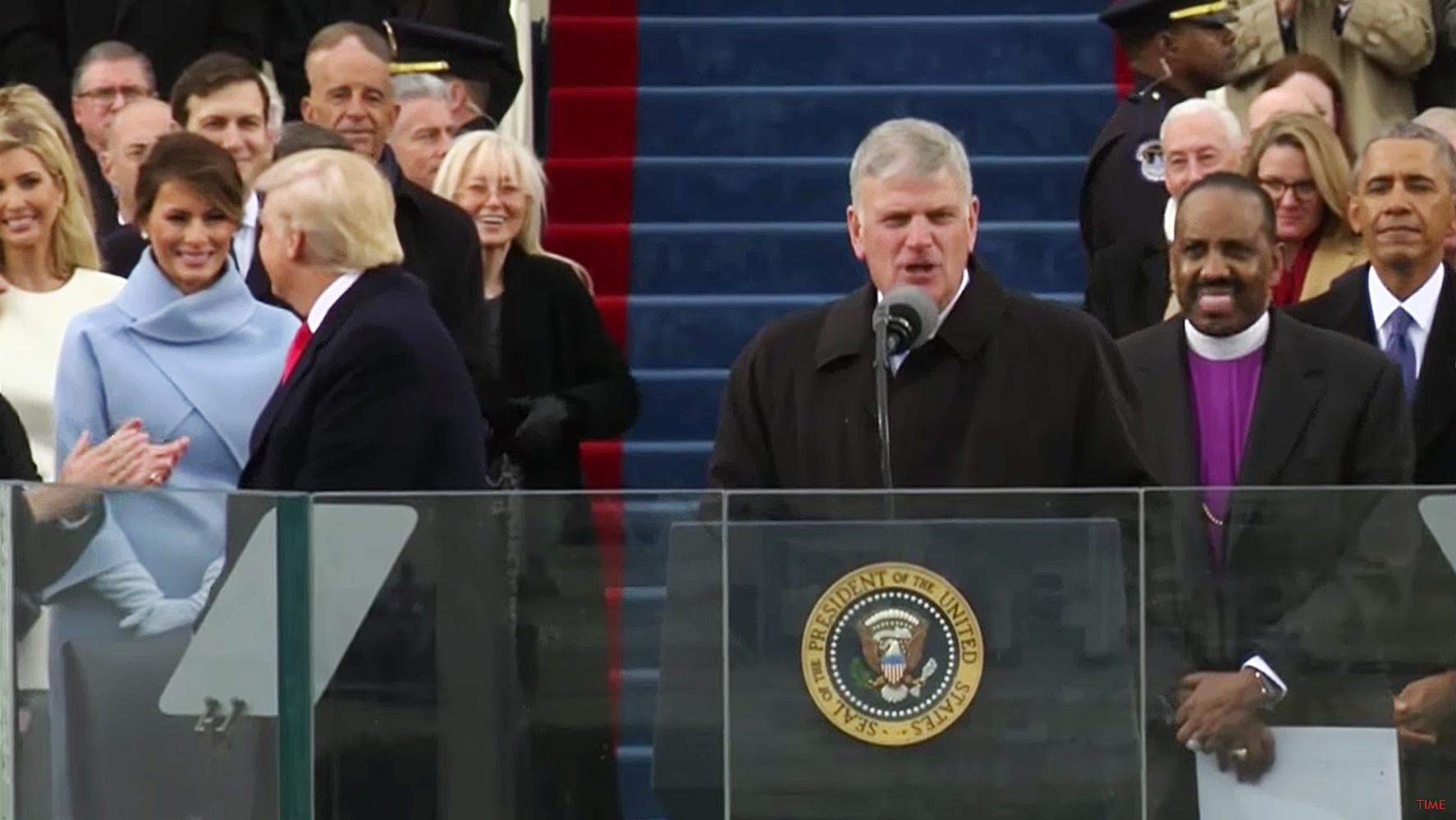Melania Trump smiling inauguration