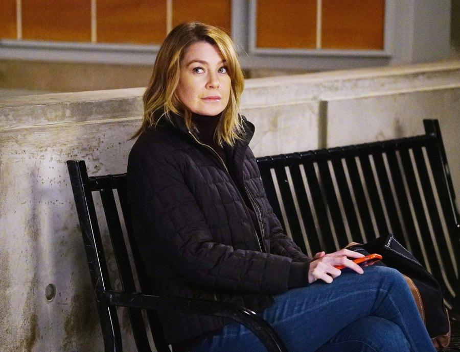 Ellen Pompeo as Meredith Grey on Grey's Anatomy