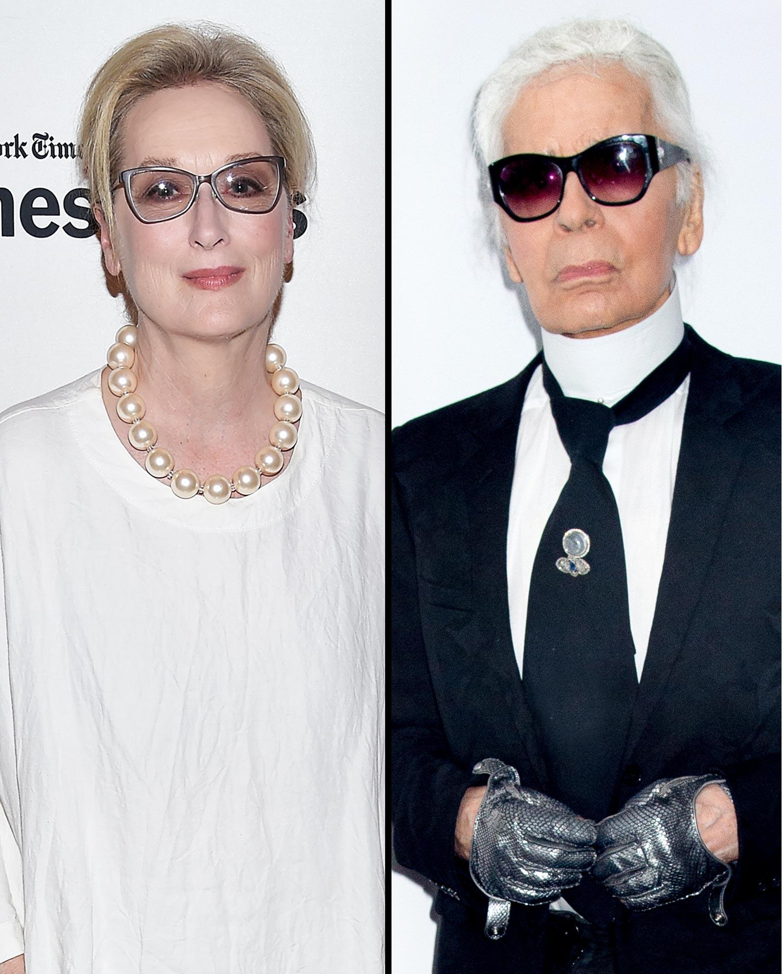 Maryl Streep; Karl Lagerfield