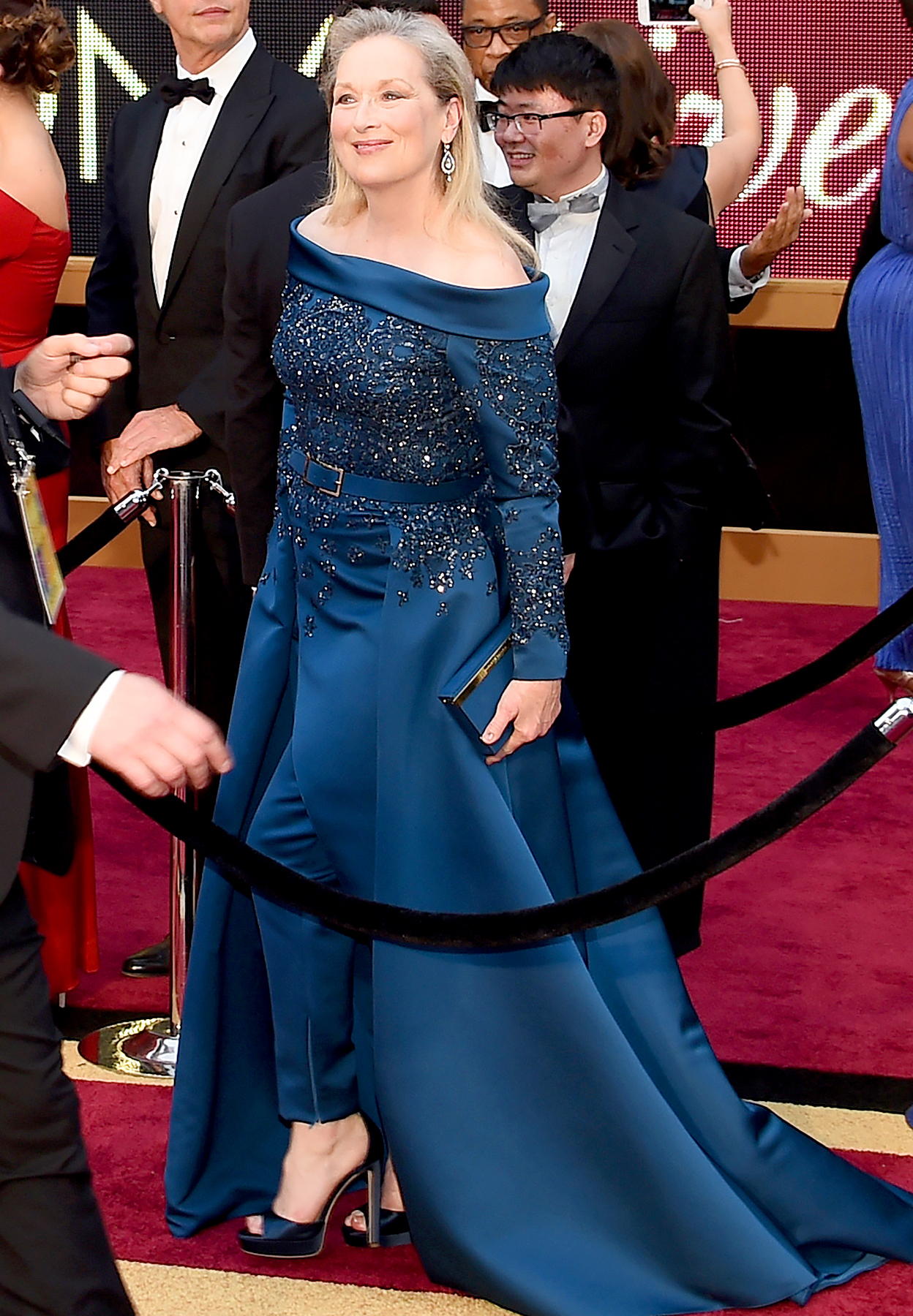 "Nominee for Best Actress ""Florence Foster Jenkins"" Meryl Streep arrives on the red carpet for the 89th Oscars on February 26, 2017 in Hollywood, California."