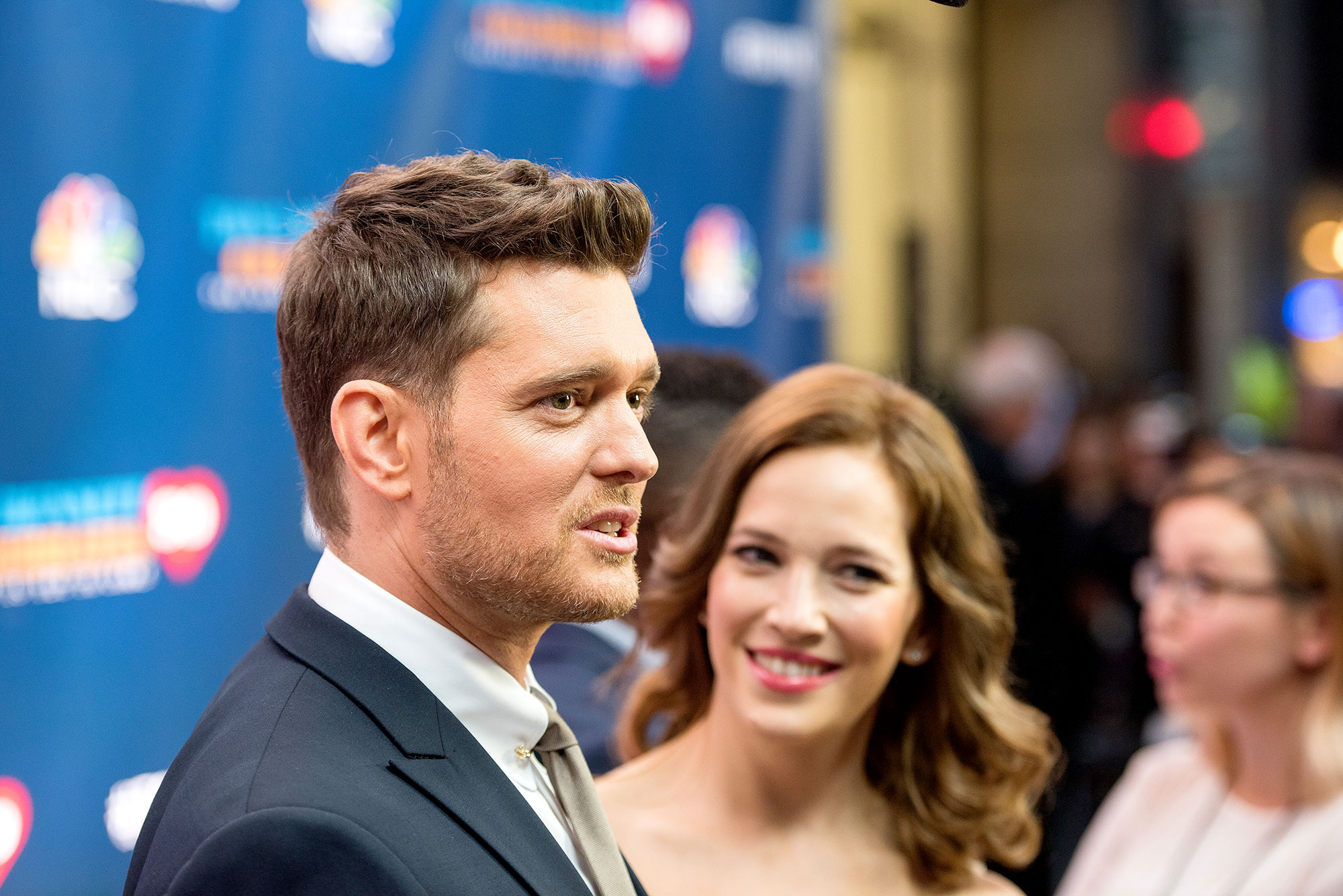 Singer Michael Buble and Luisana Lopilato attend Tony Bennett Celebrates 90: The Best Is Yet To Come at Radio City Music Hall on September 15, 2016 in New York City.