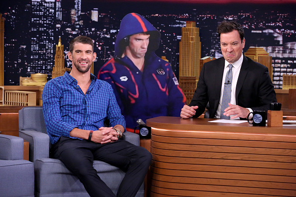 Michael Phelps and Jimmy Fallon