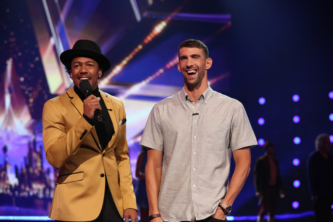 Nick Cannon and Michael Phelps on 'America's Got Talent'
