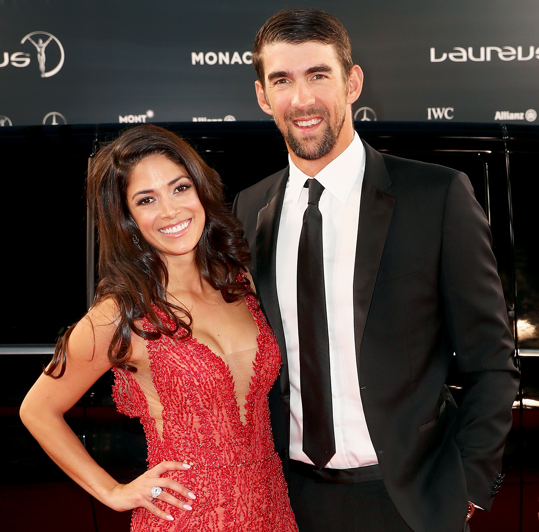 Michael Phelps and Nicole Phelps attend the 2017 Laureus World Sports Awards at the Salle des Etoiles,Sporting Monte Carlo on February 14, 2017 in Monaco, Monaco.