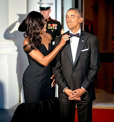 Michelle Obama and Barack Obama - State Dinner