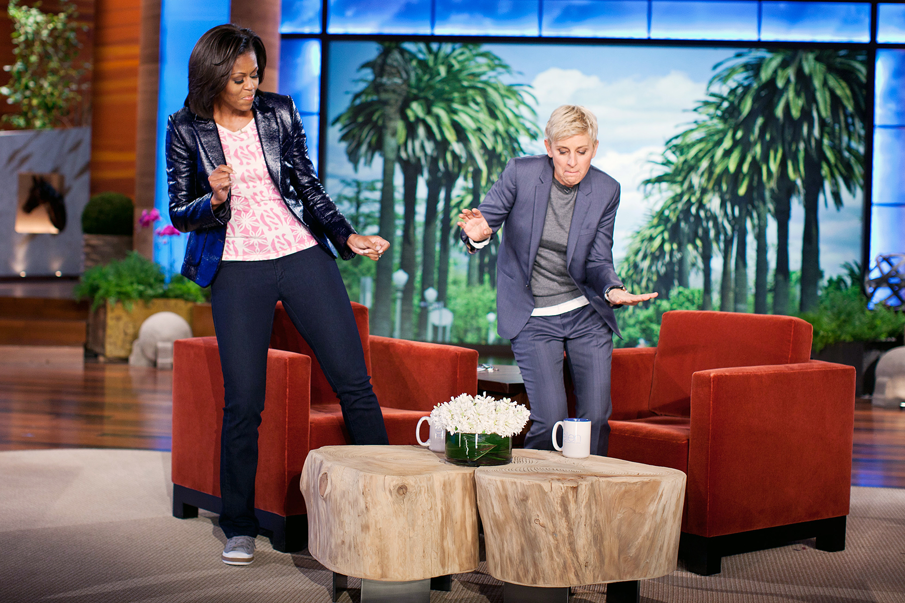 Michelle Obama Ellen DeGeneres