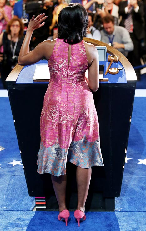 michelle obama pink dress