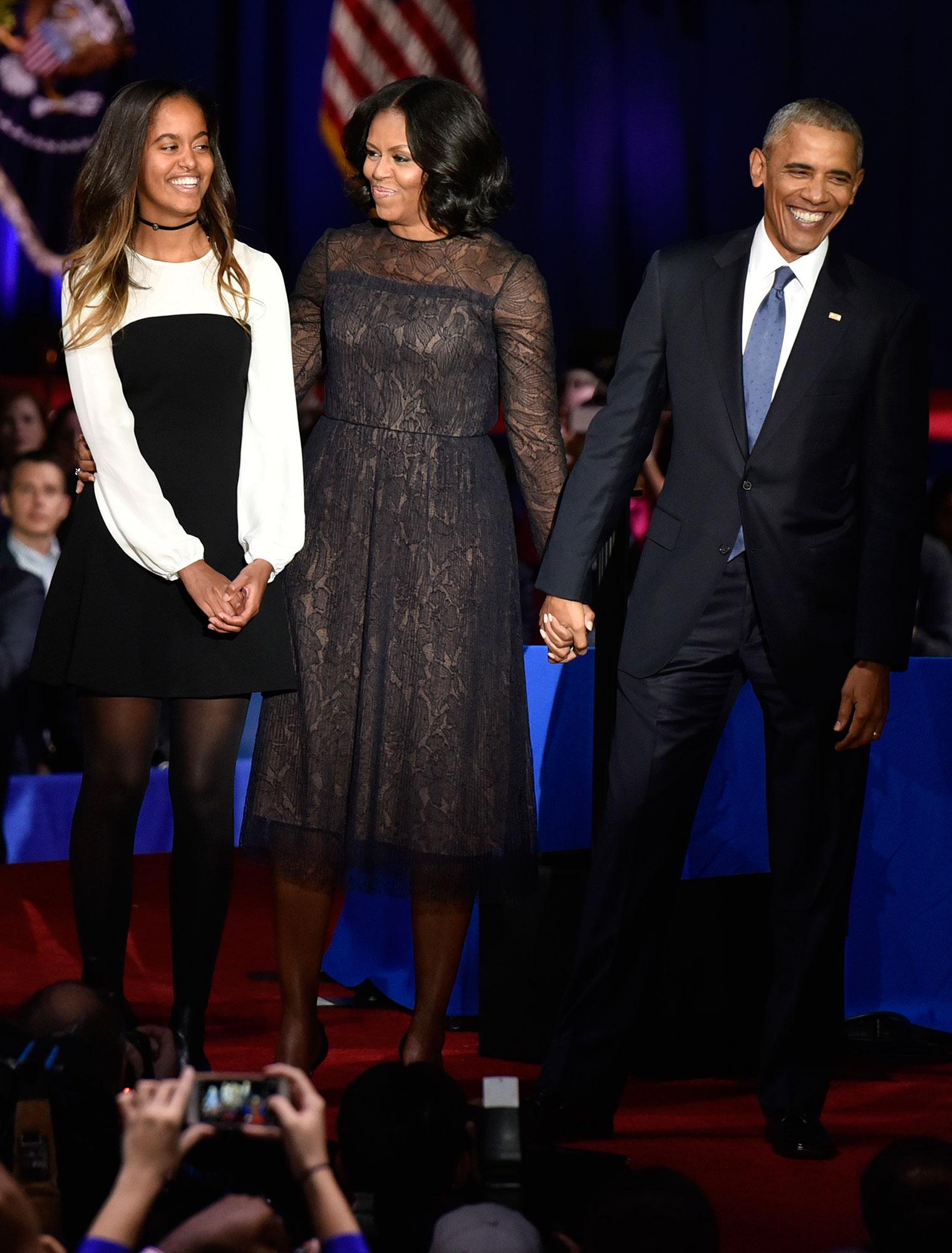 Malia Michelle Barack Obama Farewell Speech Style