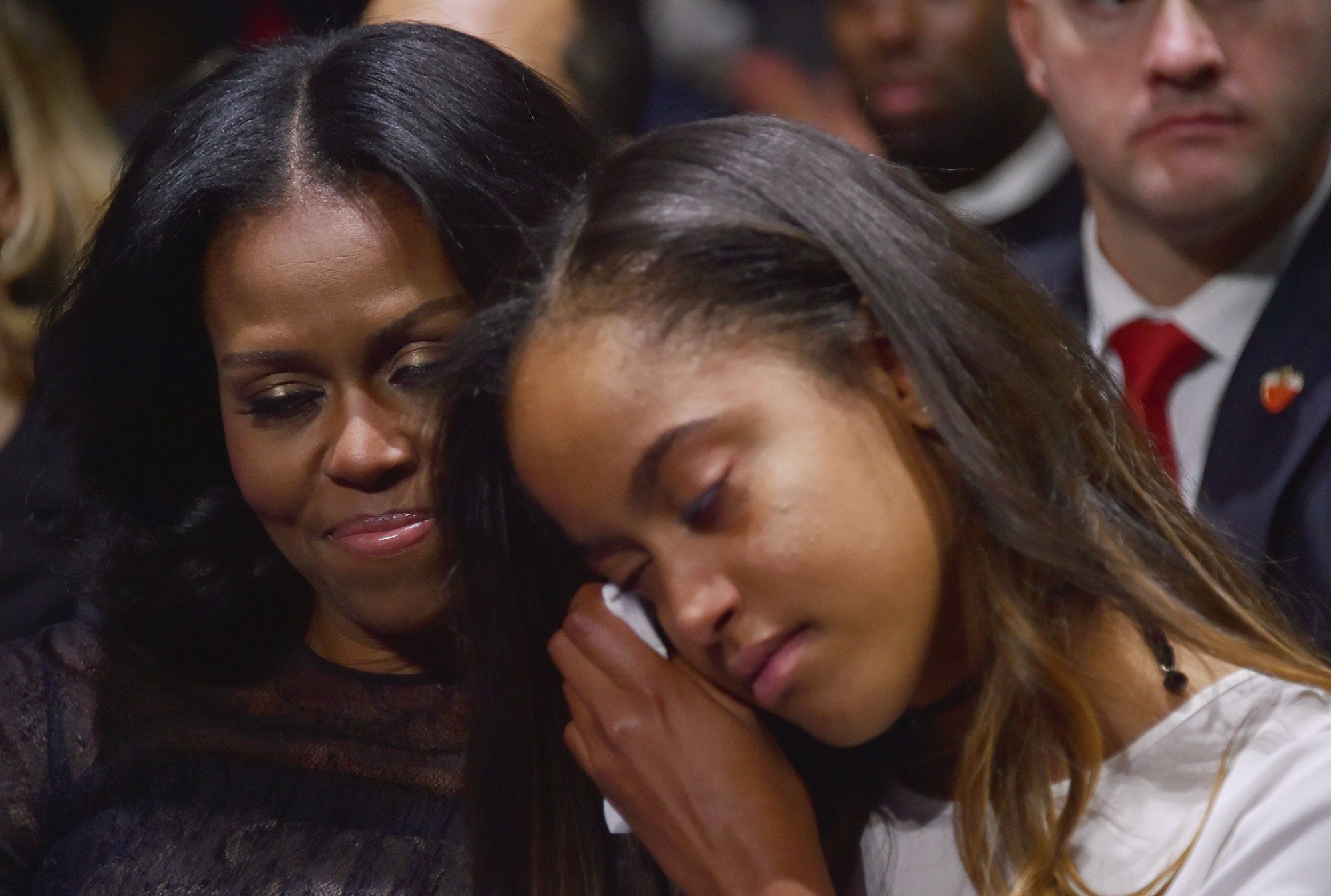 Michelle Obama Malia Crying
