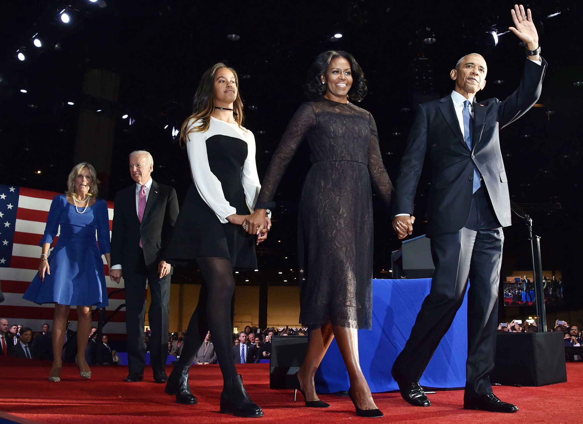 Malia Obama Michelle Obama Barack Obama Farewell Speech Style