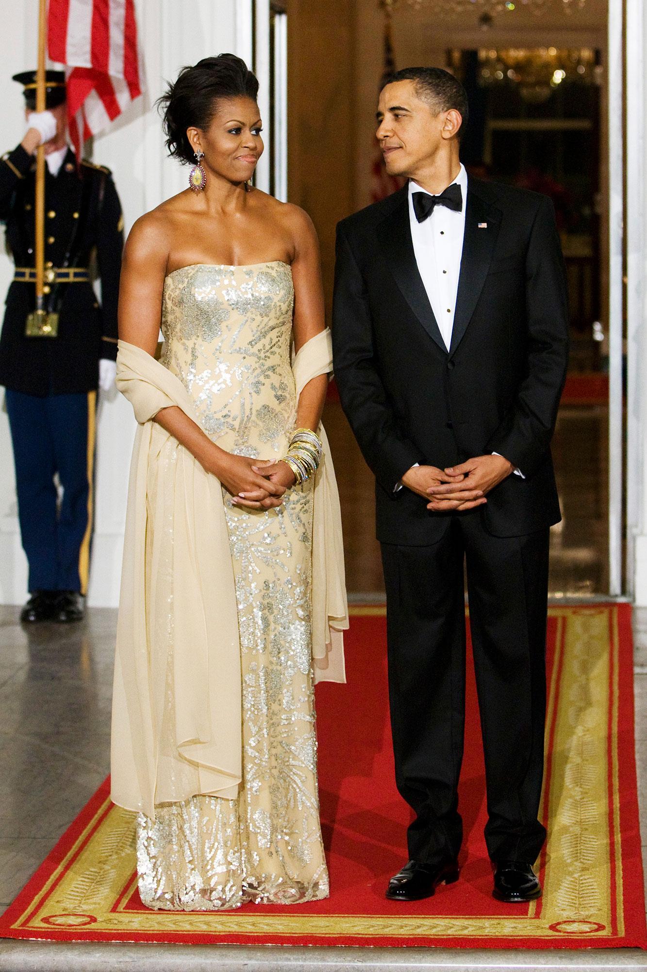 Barack Obama Michelle Obama 2009 State Dinner