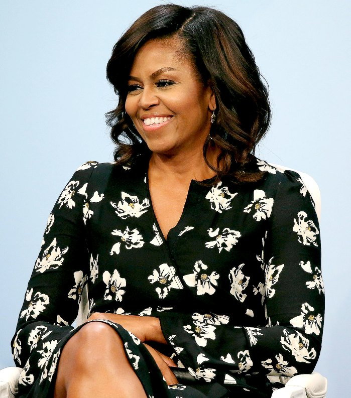 """Michelle Obama participates in a panel discussion at Glamour Hosts """"A Brighter Future: A Global Conversation on Girls' Education"""" with First Lady Michelle Obama at The Newseum on October 11, 2016 in Washington, DC."""