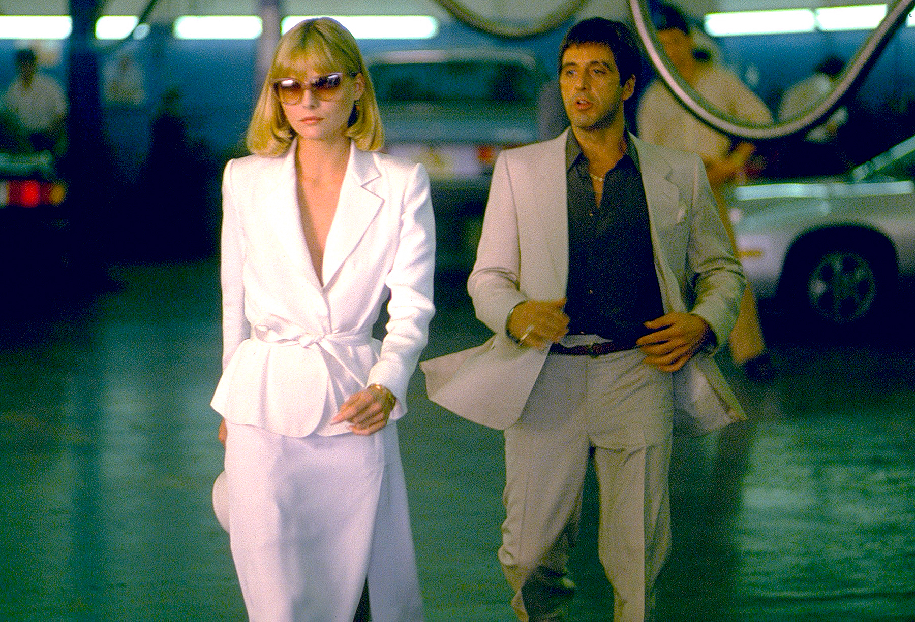 Michelle Pfeiffer and Al Pacino in 1983's Scarface.