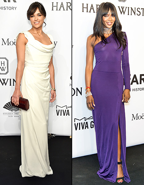 Michelle Rodriguez and Naomi Campbell - amfAR
