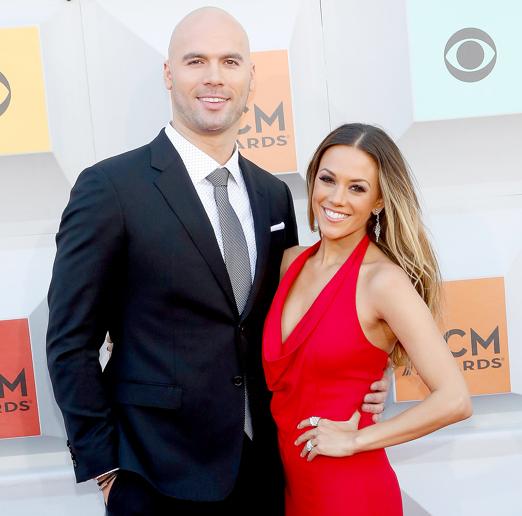 Mike Caussin and Jana Kramer attend the 51st Academy of Country Music Awards at MGM Grand Garden Arena on April 3, 2016 in Las Vegas, Nevada.