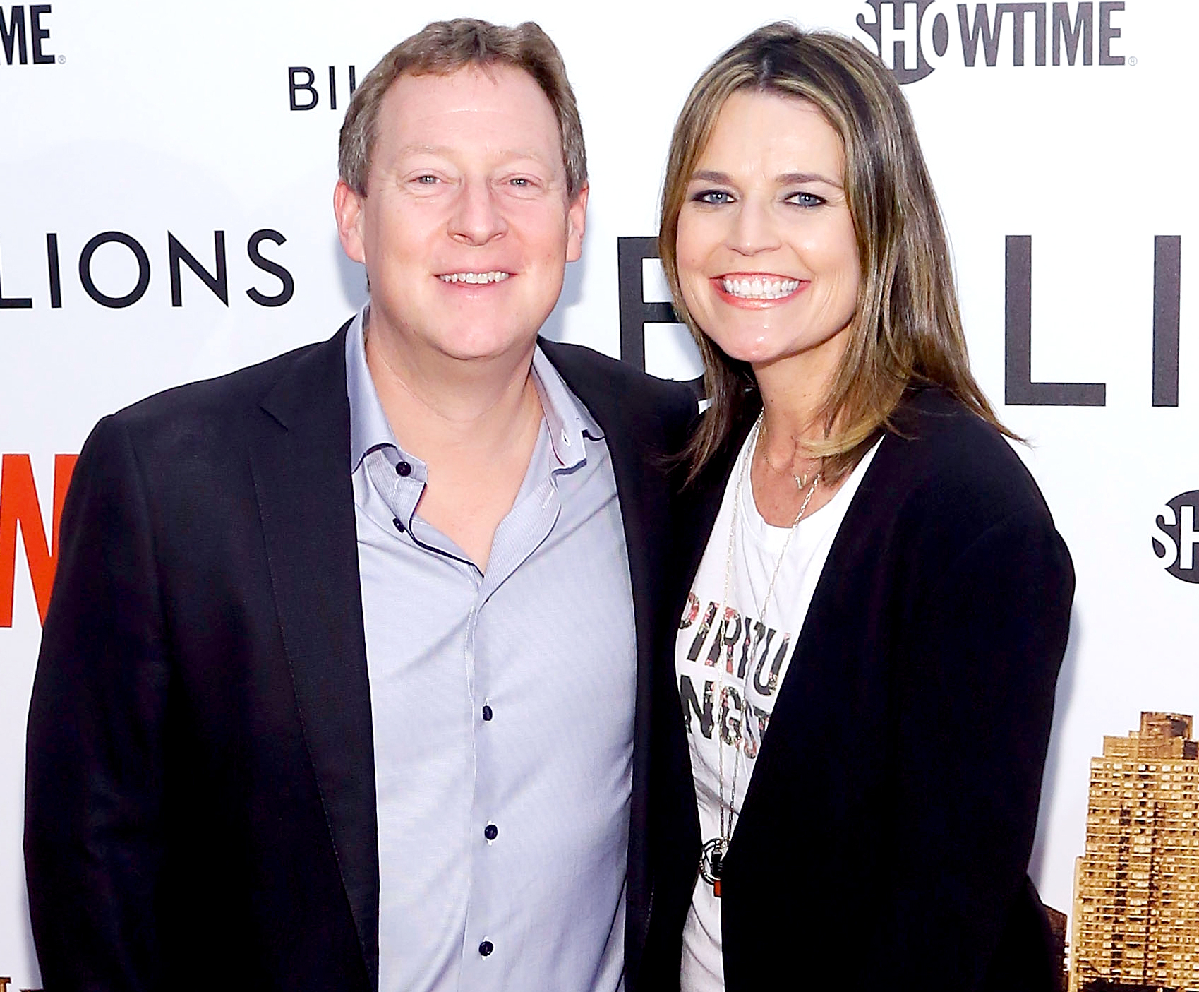 Mike Feldman and Savannah Guthrie attend Showtime's 'Billions' series premiere at Museum of Modern Art on January 7, 2016 in New York City.