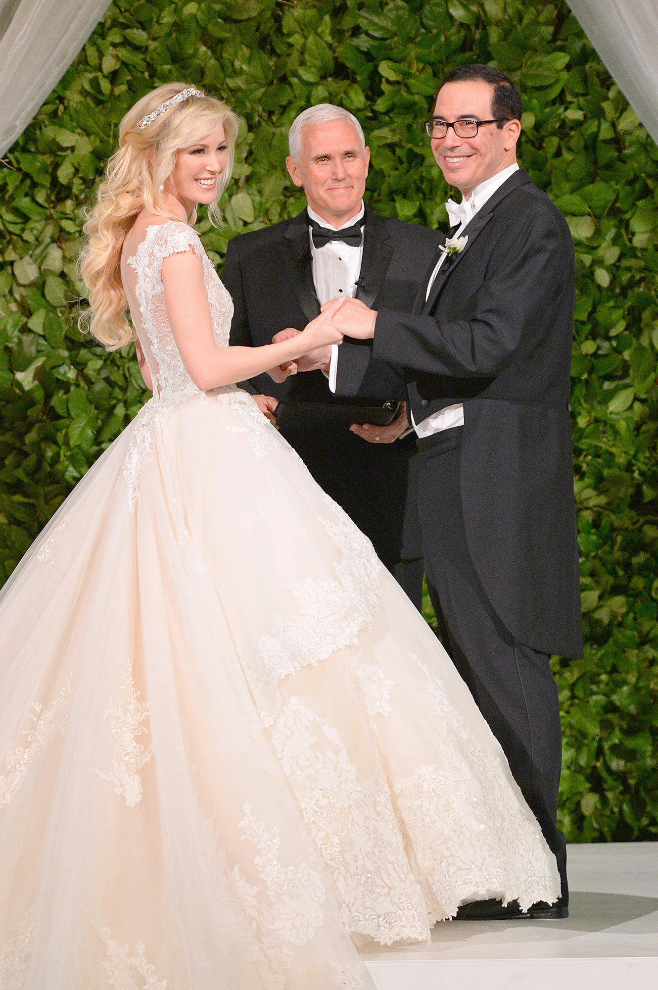 Louise Linton, Mike Pence and Steven Mnuchin