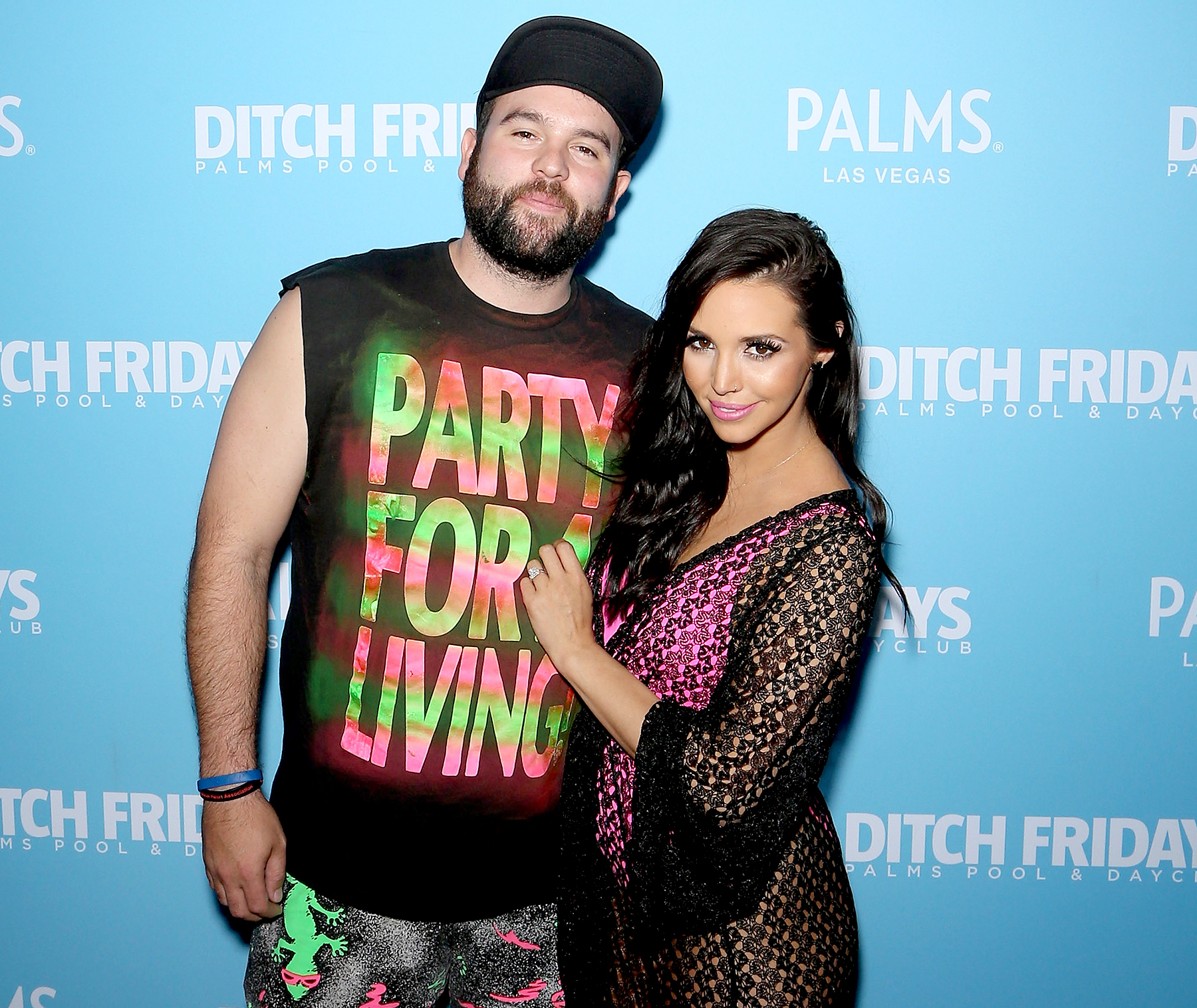 Mike Shay and Scheana Shay arrive at Ditch Fridays at Palms Casino Resort to celebrate her birthday on May 8, 2015 in Las Vegas, Nevada.
